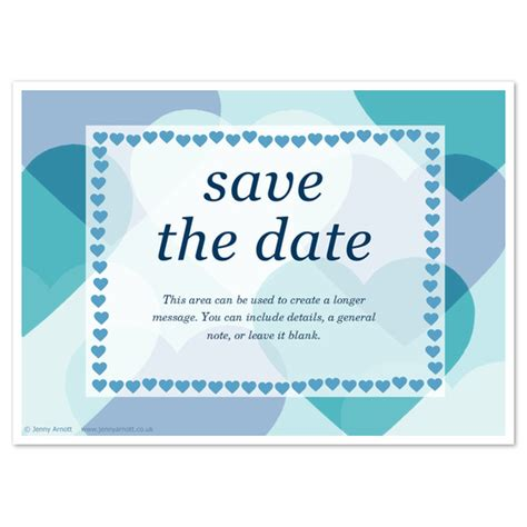 save the date blue invitations cards on pingg