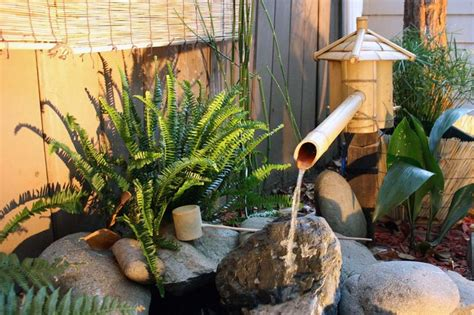 diy japanese bamboo fountain bamboo fountain backyard