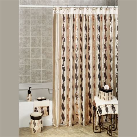 shower curtains set shimmer sequin ribbon shower curtain