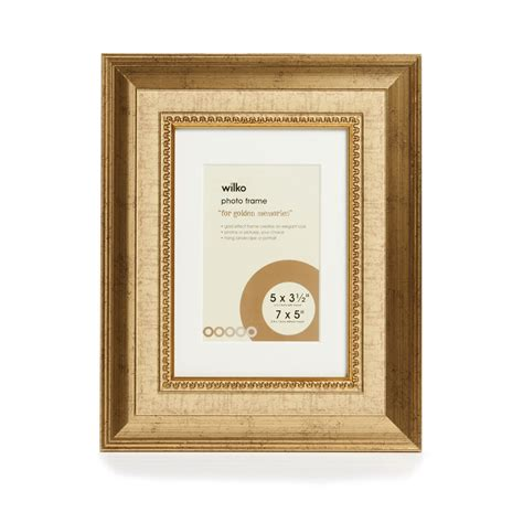photo frame wilko dorchester gold photo frame 7 x 5in at wilko com