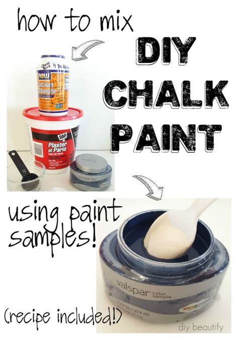 how to do chalk paint diy how to make diy chalk paint using store sles diy beautify
