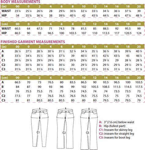 sewing pattern sizes liana stretch jeans digital sewing pattern pdf itch to