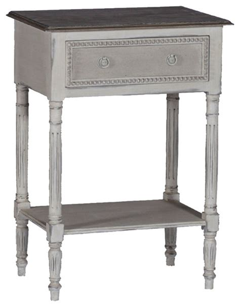 White Bedside Table With Wood Top Gabby Carine White Wood Side Table Nightstands And