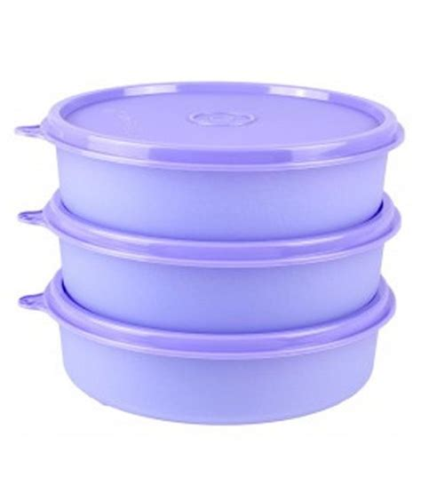 Tupperware Clear Bowl Set Gold 5pcs Tupperware Large Handy Bowls Set Of 3 Buy At Best Price In India Snapdeal