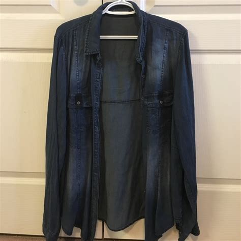 Maurices Branded Blouse 41 maurices tops maurices brand denim shirt size 2 plus from ash s closet on