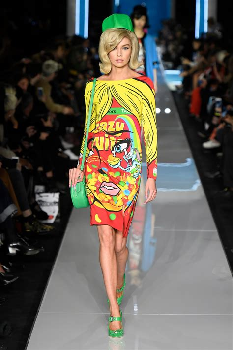 Milan Fashion Week Morsels by Stella Maxwell Walks Moschino Show Milan Fashion Week 02