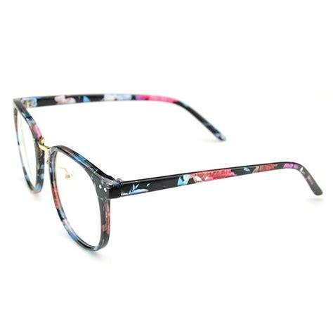 floral oversized eyeglasses cat