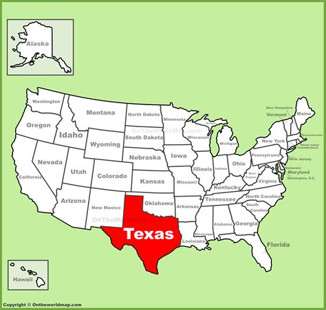 texas in map of usa texas location on the u s map