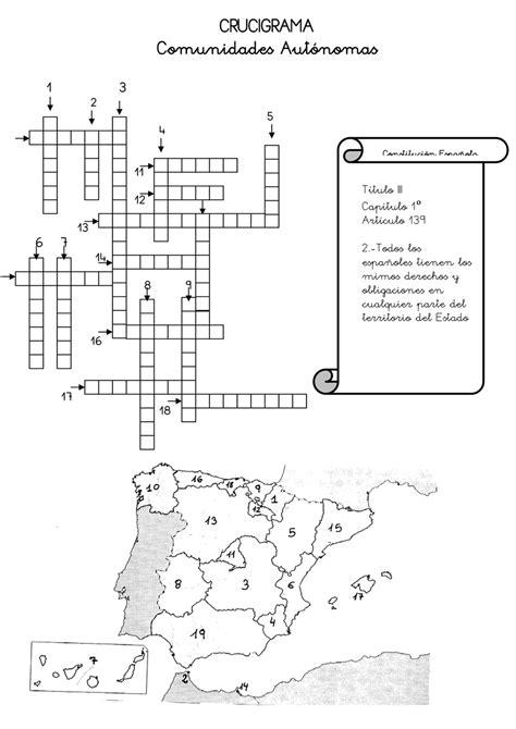 preguntas de cultura general argentina faciles crucigrama de las comunidades aut 243 nomas actiludis
