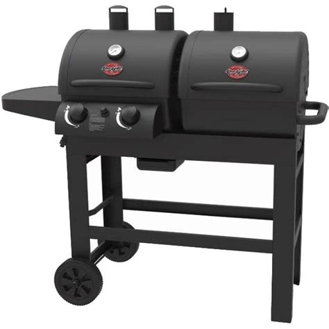 New Outdoor Bbq Char Griller Dual 2 Burner Charcoal Gas Backyard Grill 2 Burner Gas Grill