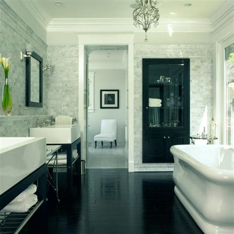 i love wood floors in bathrooms for the home pinterest hardwood floor in the bathroom kate collins interiors