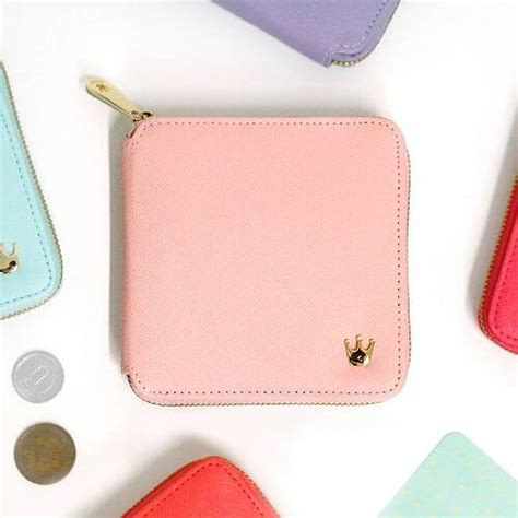 Dompet Wanita Resleting Crown Korean Wallet Baru jual dompet wanita cewek korea lipat pendek resleting
