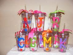 Ip30126 Set Ribbon Polka Oz set of 10 custom personalized tumblers brightly colored names polka dots birthday gift