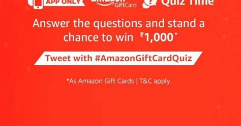 Answer Surveys For Amazon Gift Cards - all answers to amazon gift card quiz answer win rs 1000 200 winners free stuff