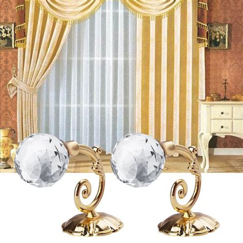 where to hang curtain tie backs on wall 2x metal crystal glass curtain holdback wall tie back