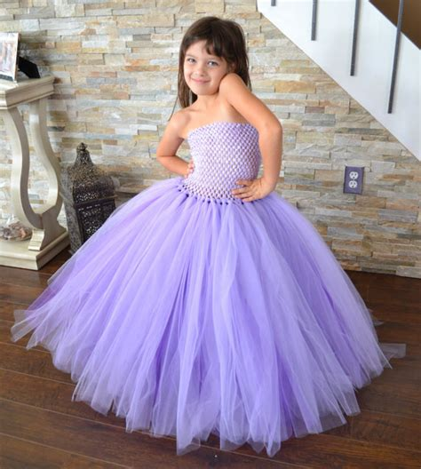 Dress Vol L by Sommer 2015 Lavendel Mit Schleppe Zus 228 Tzliche Volle Tutu
