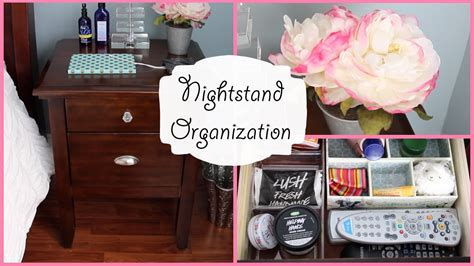Org Table How To Organize Nightstand Bedside Table Organization