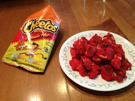 hot chips in black bag i had an extra bag of flaming hot cheetos so we breaded