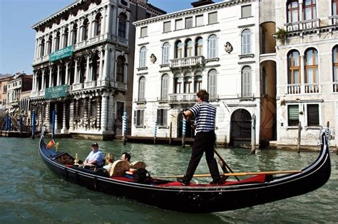 best place to get a gondola in venice gondola at the canal in venice italy stock photo colourbox