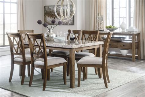 Two Toned Dining Room Sets by Narvilla Two Tone Rectangular Dining Room Set D559 25