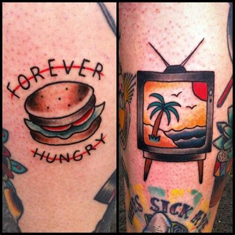 burger tattoo 294 best images about color me in ink on
