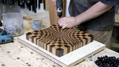 3d woodworking how to create an end grain wood cutting board with a
