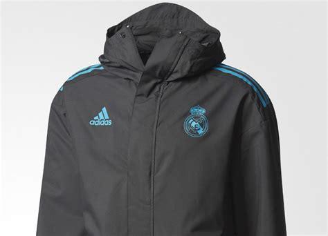 Jaket Windcheater Black Real Madrid adidas real madrid ucl all weather jacket black teal equipment football shirt