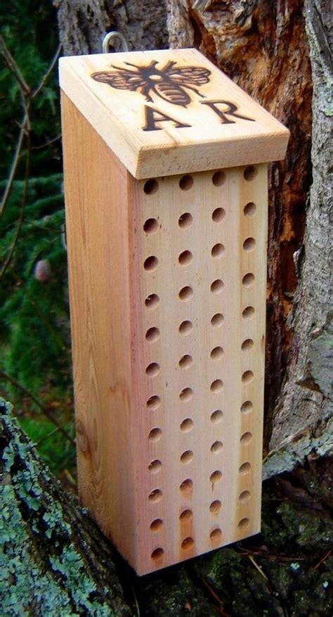 carpenter bee house gardens initials and carpenter bee on