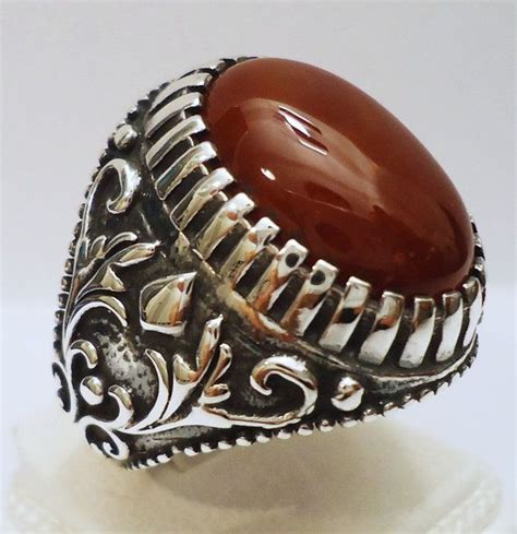 925 sterling silver s ring with agate aqeeq great