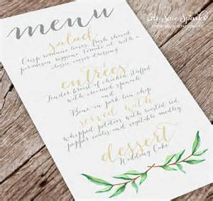wedding menu template free 37 wedding menu template free sle exle format