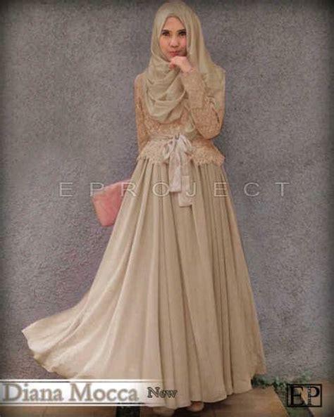 Gamis Pelangi Hijabers Princess baju gamis pesta brokat diana princess p254 busana muslim