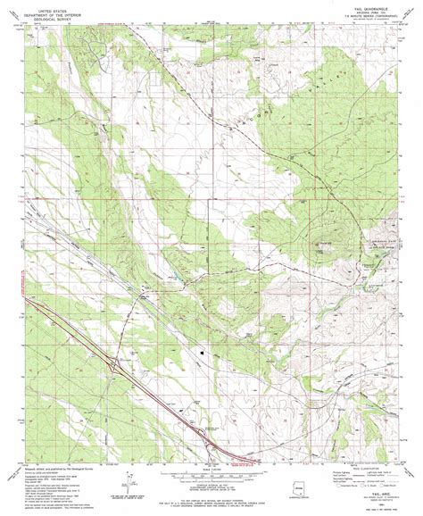 arizona topographical map vail topographic map az usgs topo 32110a6