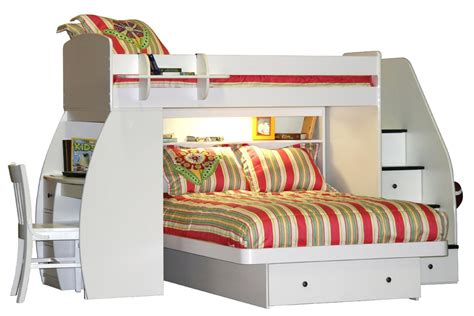 stylish bunk beds elegant white plywood bunk bed with drawers stairway of