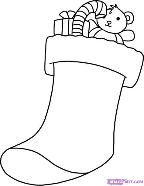 How to Draw a Stocking, Step by Step, Christmas Stuff