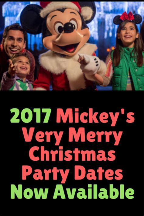2017 mickey s very merry christmas party dates now available
