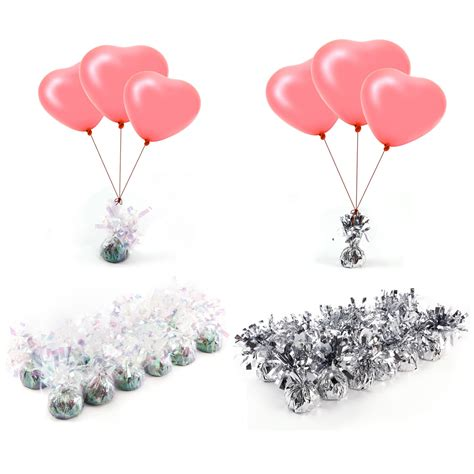 12 wedding helium balloon weights cluster diy kit for tables balloons ribbon ebay