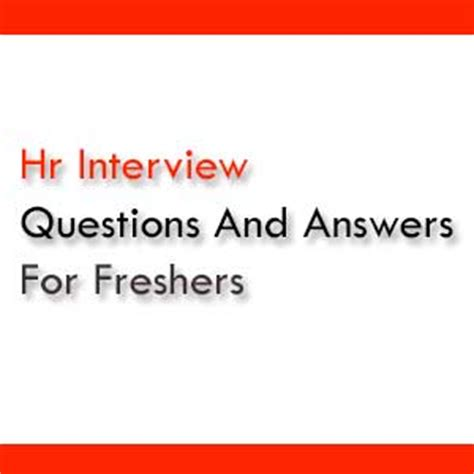 Questions And Answers For Mba Hr Freshers by Icwai Cma