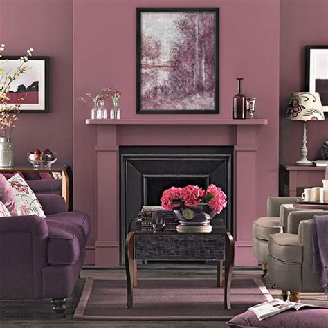 Plum And Brown Living Room by Plum Tones Living Room Living Room Decorating Ideal Home