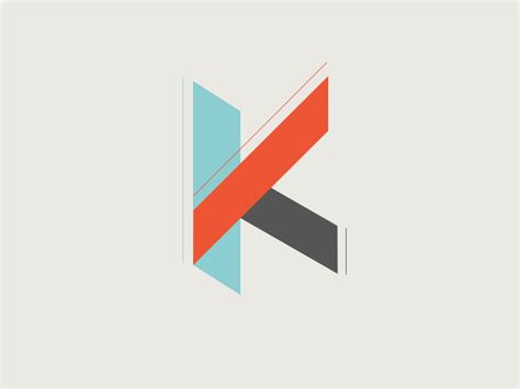 geometric k logo concept by kevin suttle dribbble