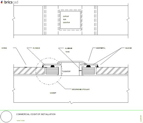 Corian Details Commercial Cooktop Installation Layout Aia Cad Details