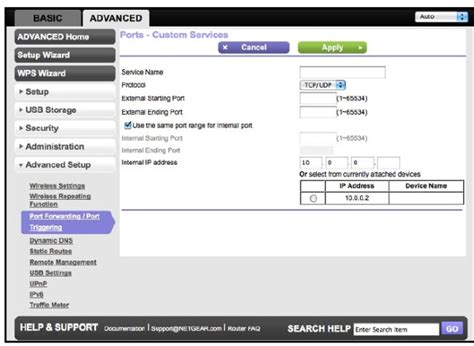 router forward configure forwarding routers netgear interface vpn