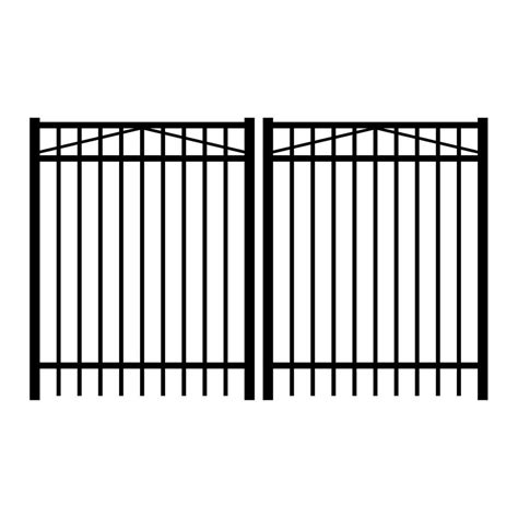 home depot decorative fence hton bay beaumont 3 75 ft x 3 33 ft black steel
