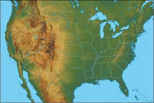 United States Physical Features Map by Physical Map Of The United States United States Of