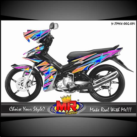 Striping Modifikasi Yamaha Yz 85 jupiter mx air brush stiker motor striping motor suka