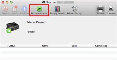 Resume Paused Application Mac El Estado De La Impresora Est 225 Fuera De L 237 Nea O En Pausa Para Macintosh