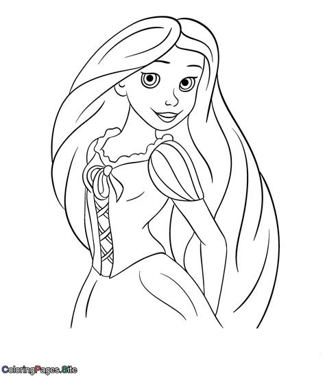 hair coloring princess hair coloring page