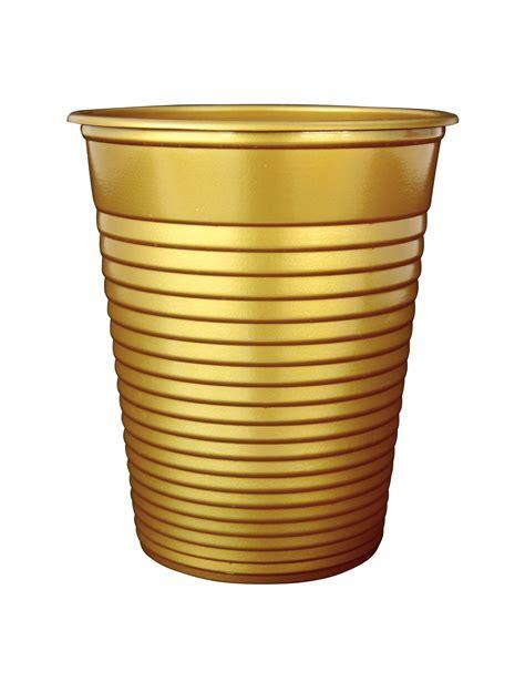 bicchieri di plastica 50 bicchieri di plastica dorati su vegaooparty negozio di