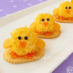 easter appetizers baby chick cheese balls are so cute