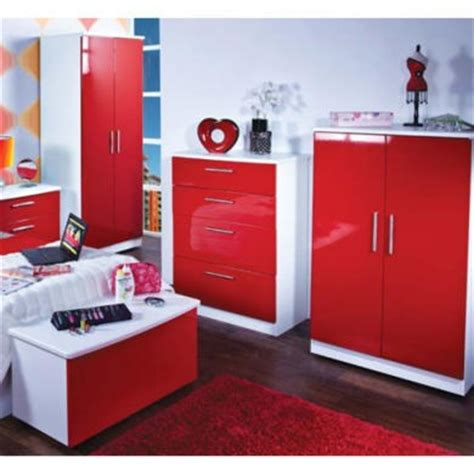 red and white bedroom furniture hatherley high gloss 4 piece white and red bedroom storage