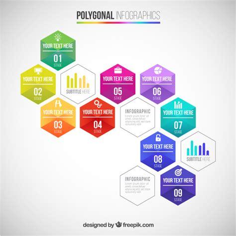 freepik com polygonal infographic vector free download